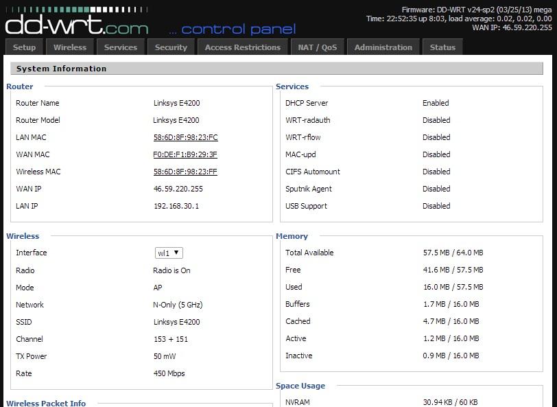 DD-WRT auf Linksys E4200 installieren