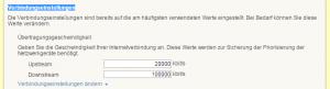 FRITZ!Box Verbindungseinstellungen für wilhelm.tel